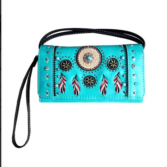 Handbags - Western Wristlet Clutch Style Wallet